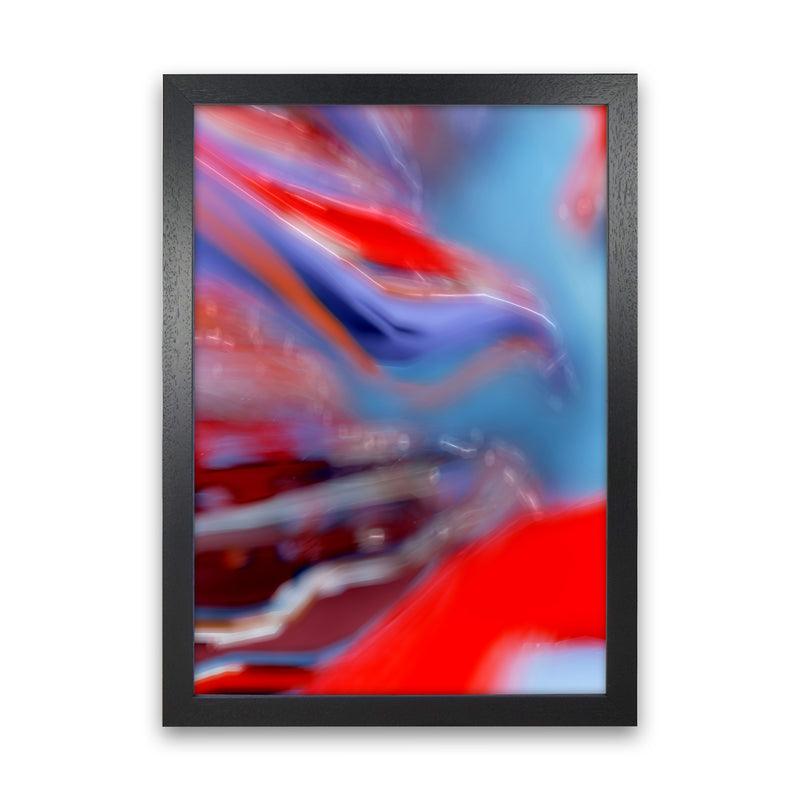 Red Stripe 2 Abstract Art Print by Henry Hu Black Grain