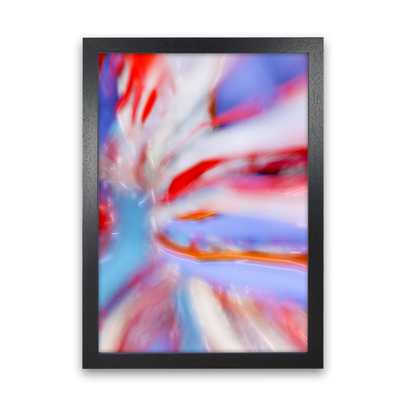 Fogs up 5 Abstract Art Print by Henry Hu Black Grain