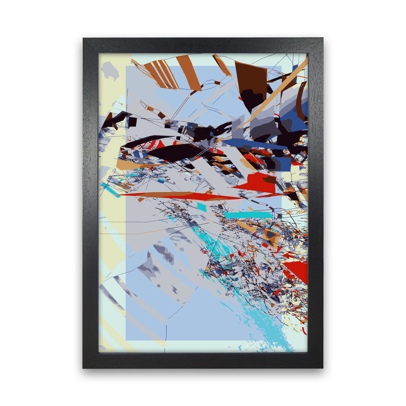 Grey Static Abstract Art Print by Henry Hu Black Grain