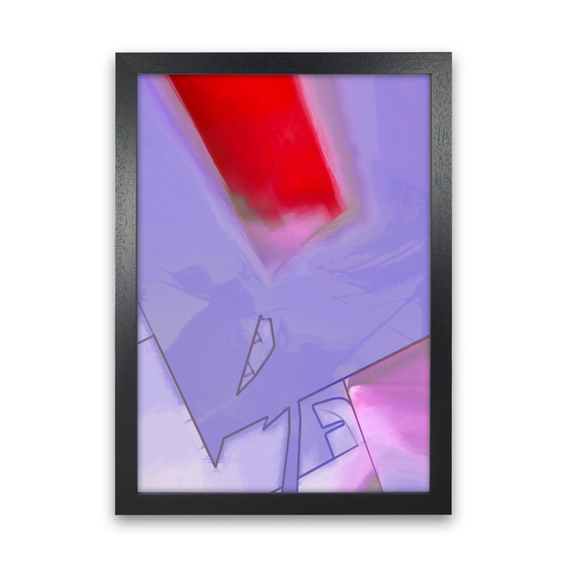 Frontseat Abstract Art Print by Henry Hu Black Grain