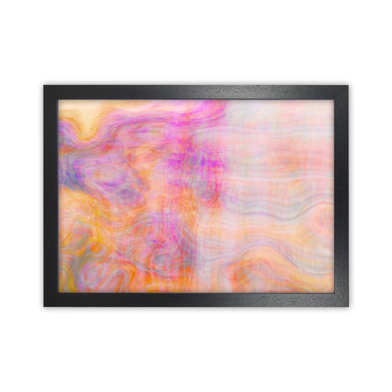 Creation 2 Abstract Art Print by Henry Hu Black Grain