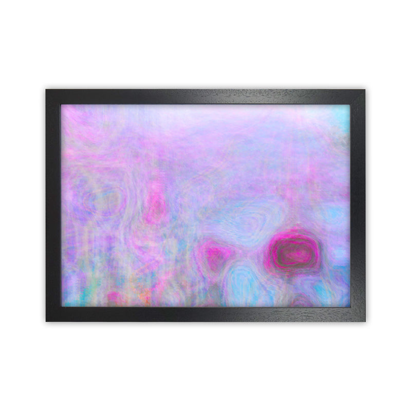 September Breeze Abstract Art Print by Henry Hu Black Grain