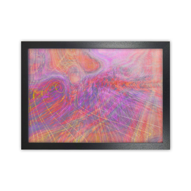 Wake early Abstract Art Print by Henry Hu Black Grain