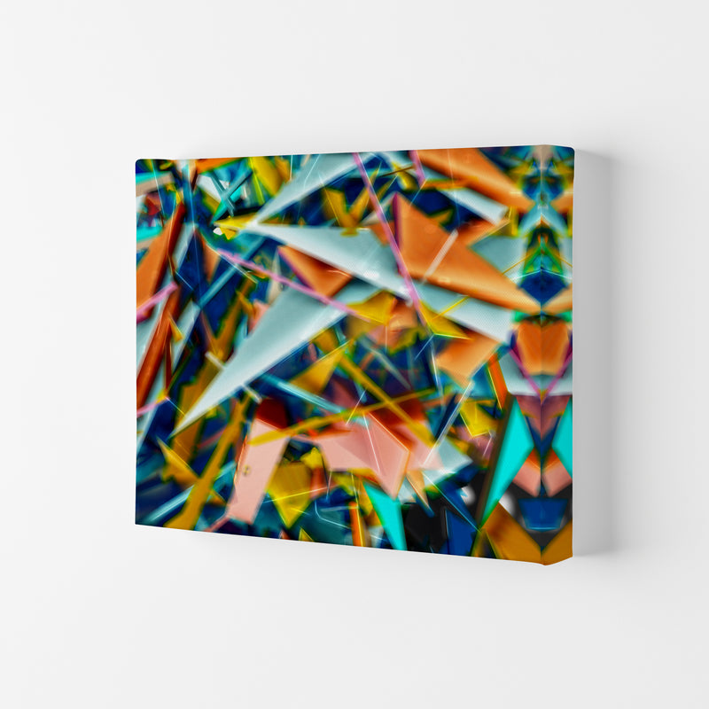 Blurred Triangles 2 Abstract Art Print by Henry Hu Canvas