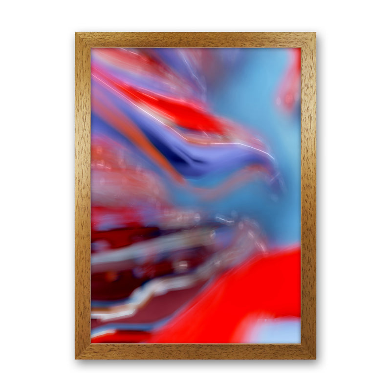 Red Stripe 2 Abstract Art Print by Henry Hu Oak Grain