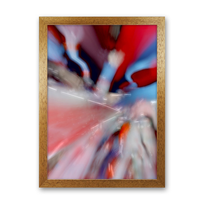 Red Stripe 3 Abstract Art Print by Henry Hu Oak Grain
