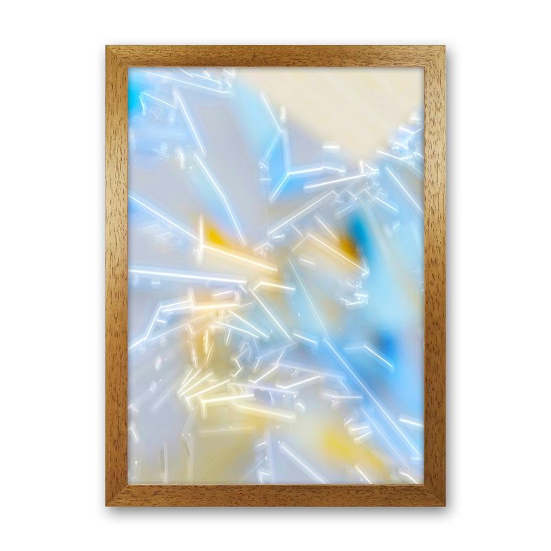 Electric Blue 2 Abstract Art Print by Henry Hu Oak Grain
