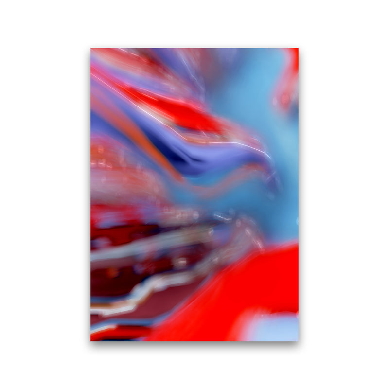 Red Stripe 2 Abstract Art Print by Henry Hu Print Only