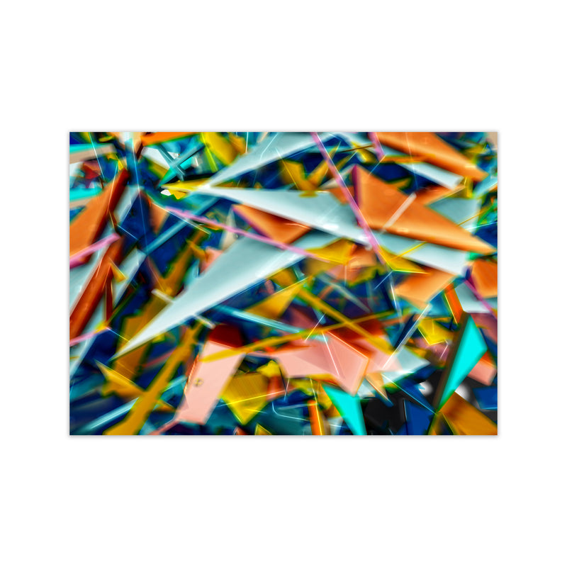 Blurred Triangles 2 Abstract Art Print by Henry Hu Print Only
