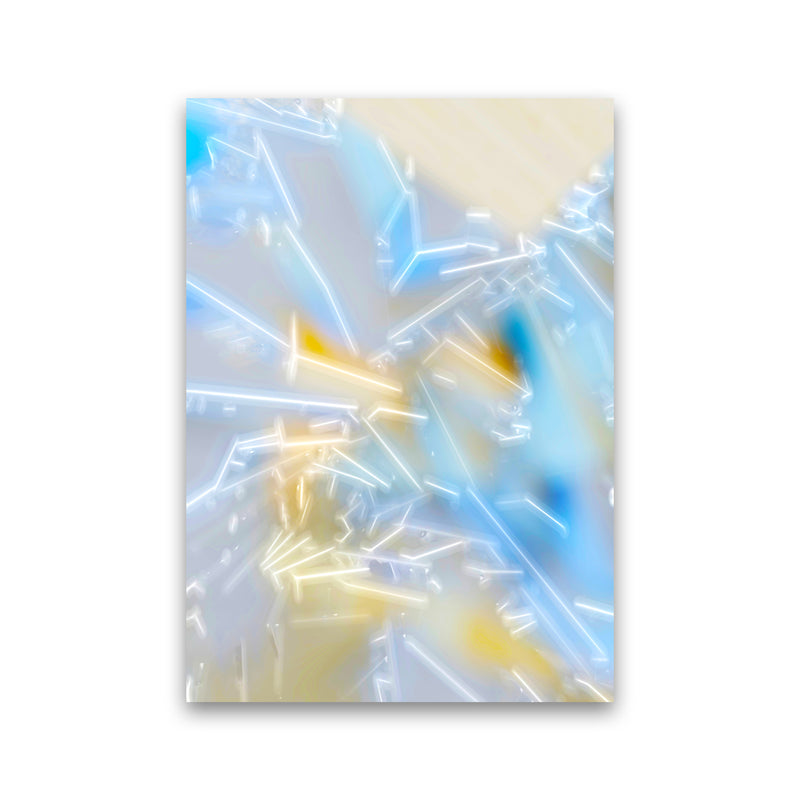 Electric Blue 2 Abstract Art Print by Henry Hu Print Only