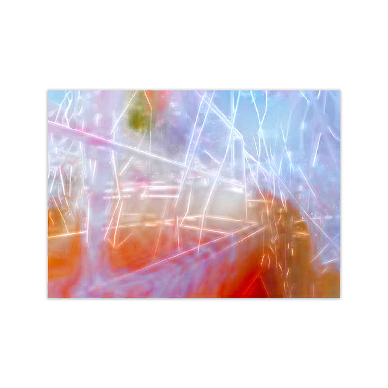 Neon Abstract Art Print by Henry Hu Print Only