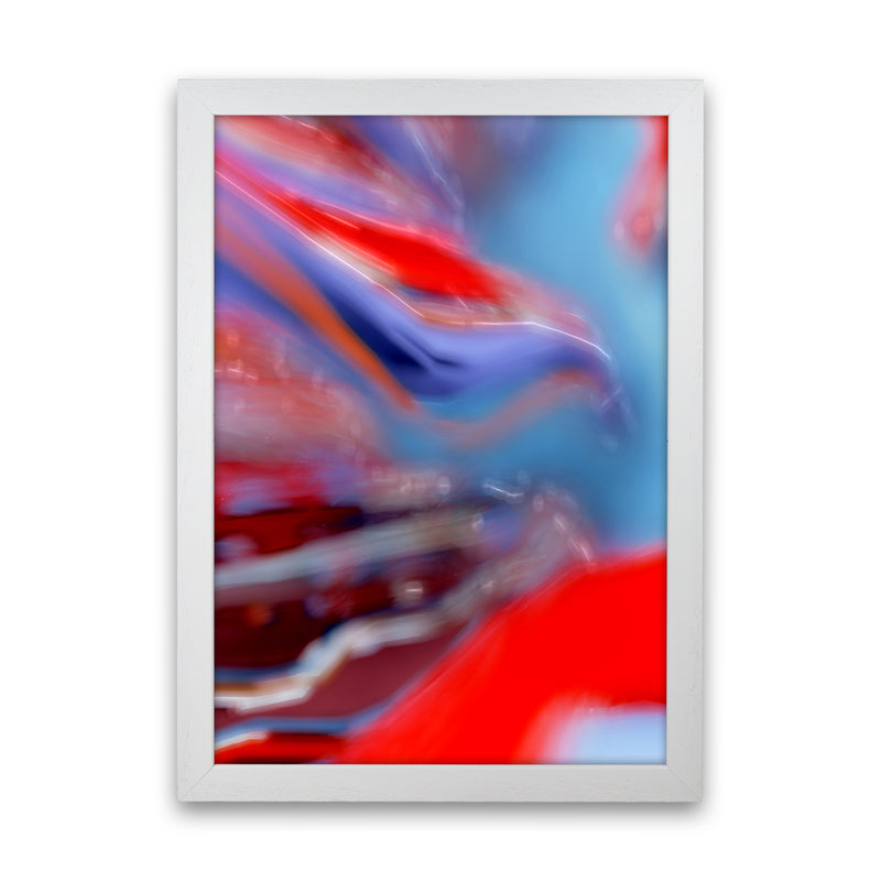 Red Stripe 2 Abstract Art Print by Henry Hu White Grain