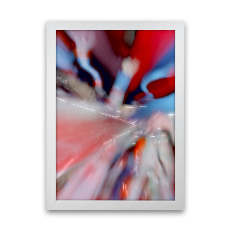 Red Stripe 3 Abstract Art Print by Henry Hu White Grain