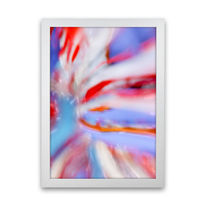 Fogs up 5 Abstract Art Print by Henry Hu White Grain