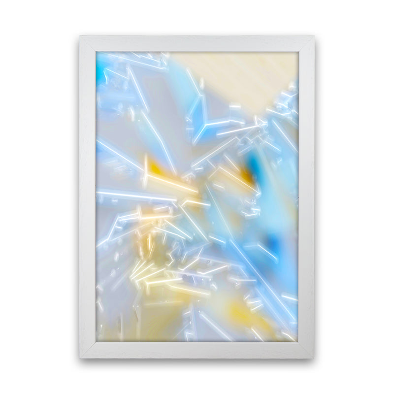 Electric Blue 2 Abstract Art Print by Henry Hu White Grain