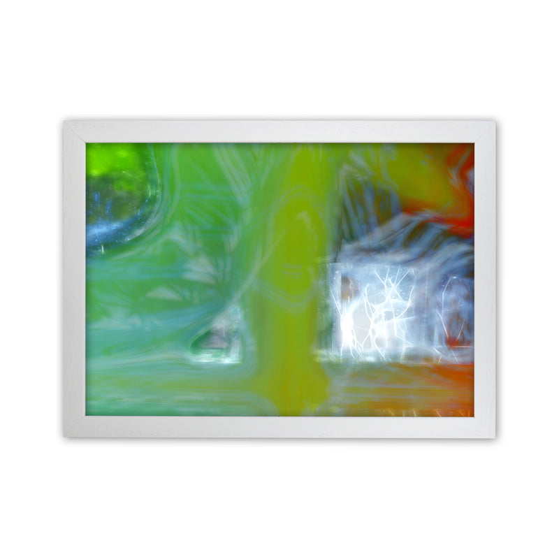 Storm Abstract Art Print by Henry Hu White Grain