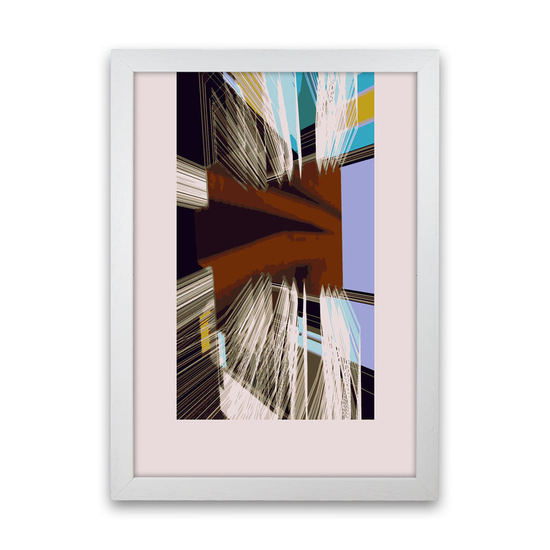 Unit 2 Abstract Art Print by Henry Hu White Grain