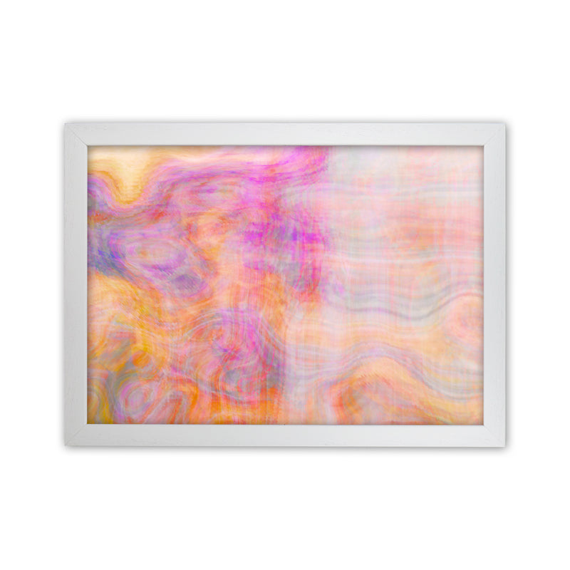Creation 2 Abstract Art Print by Henry Hu White Grain