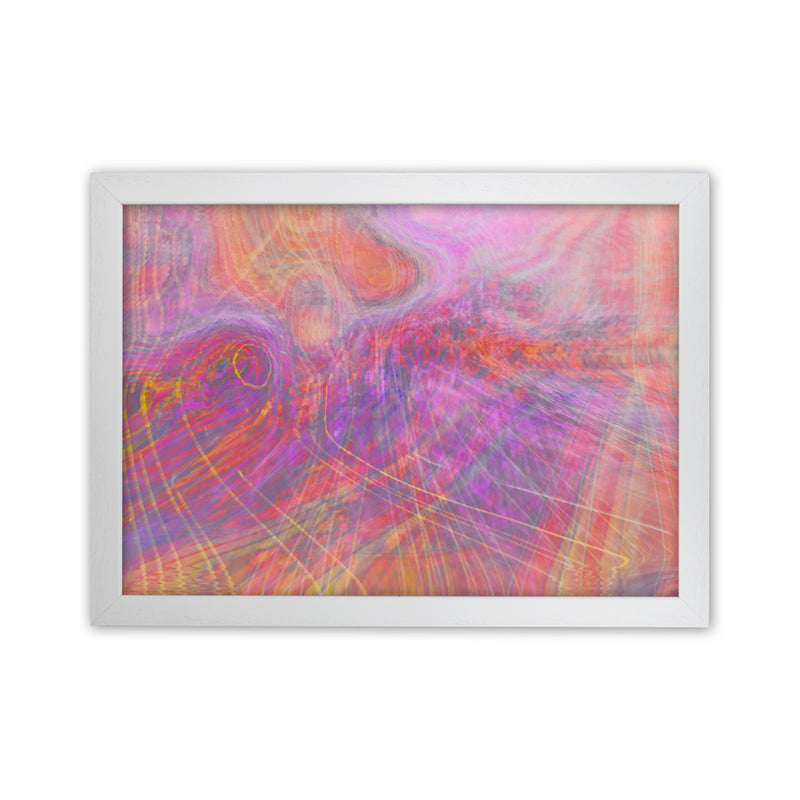 Wake early Abstract Art Print by Henry Hu White Grain