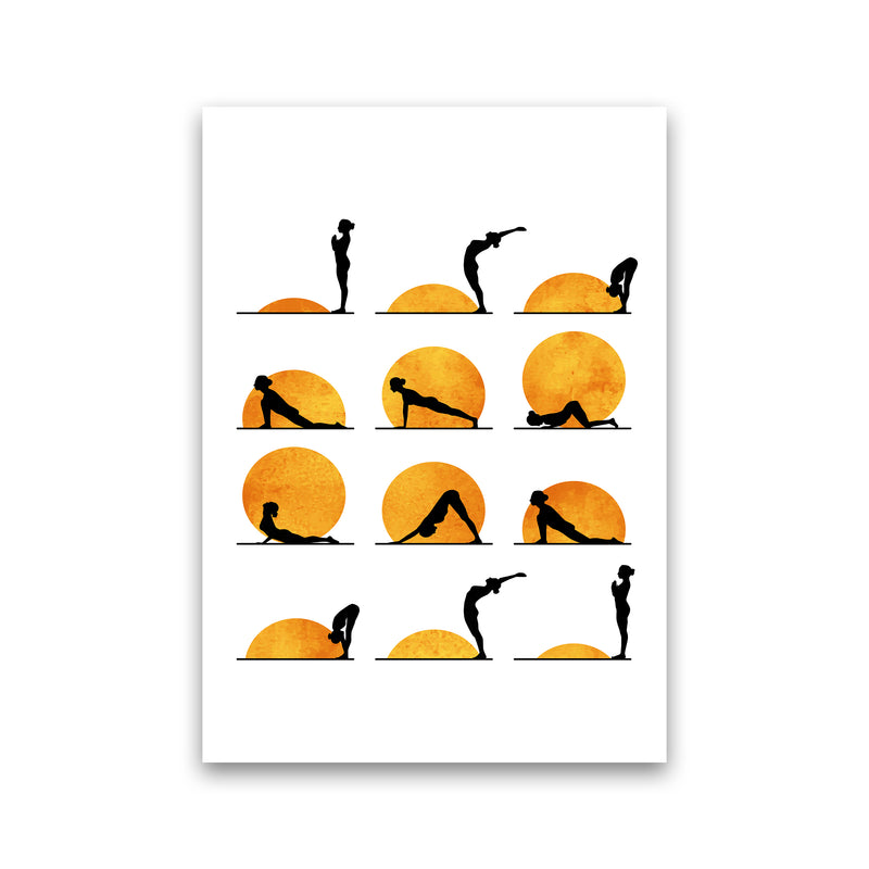 Yoga Sun Contemporary Art Print by Kubistika