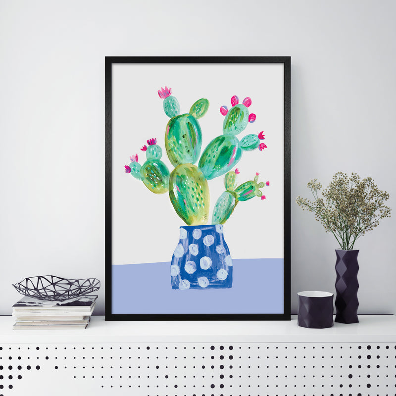 Laura Irwin Prickly Pear A1 Black with White Mount