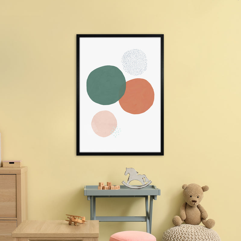 Abstract Soft Circles by Laura Irwin A1Black Frame