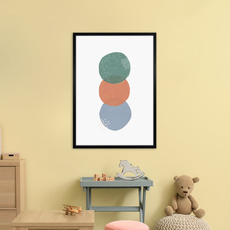 Abstract Soft Circles Part 2 by Laura Irwin A1Black Fra