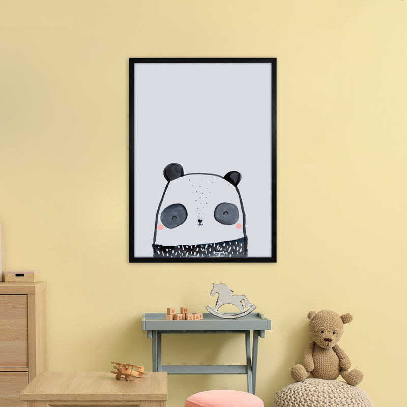 Panda by Laura Irwin A1Black Frame