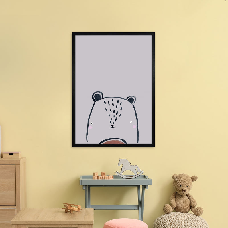 Teddy by Laura Irwin A1Black Frame