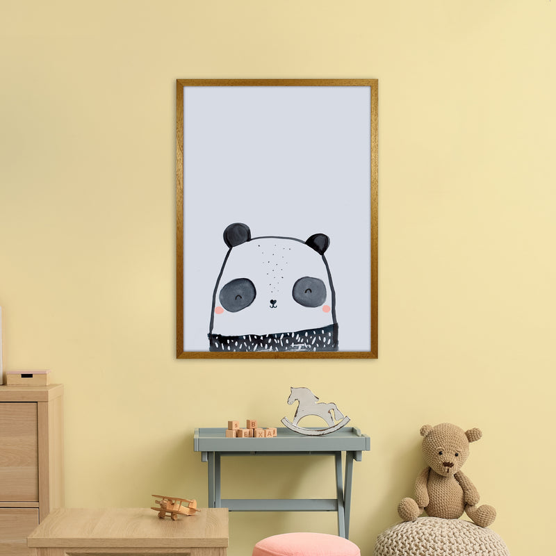 Panda by Laura Irwin A1 Oak Frame