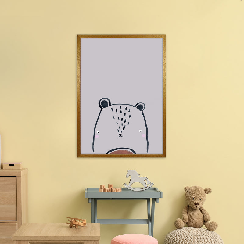 Teddy by Laura Irwin A1 Oak Frame