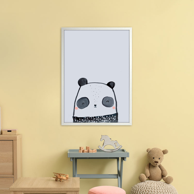 Panda by Laura Irwin A1 White Frame