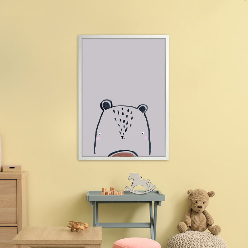 Teddy by Laura Irwin A1 White Frame