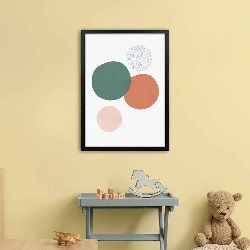 Abstract Soft Circles by Laura Irwin A2 Black Frame