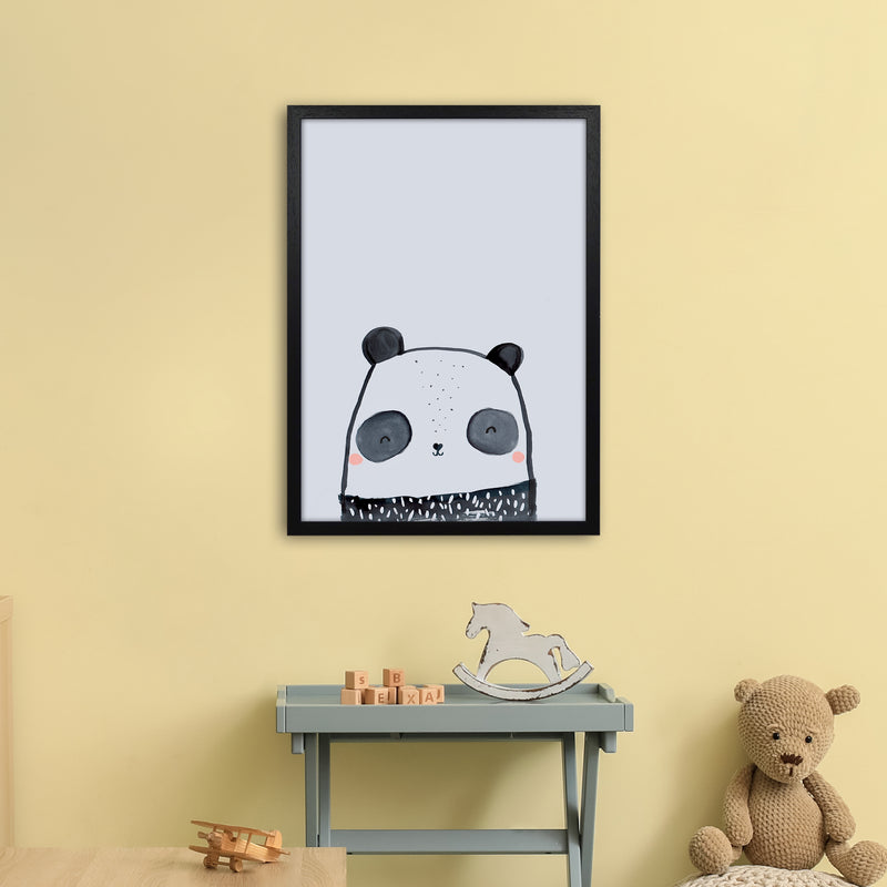 Panda by Laura Irwin A2 Black Frame