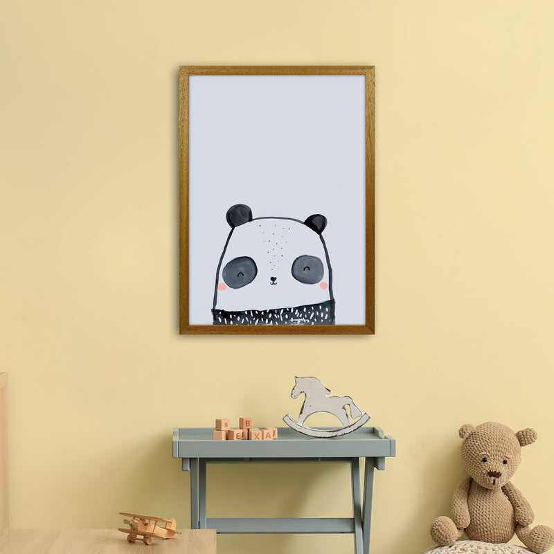 Panda by Laura Irwin A2 Oak Frame