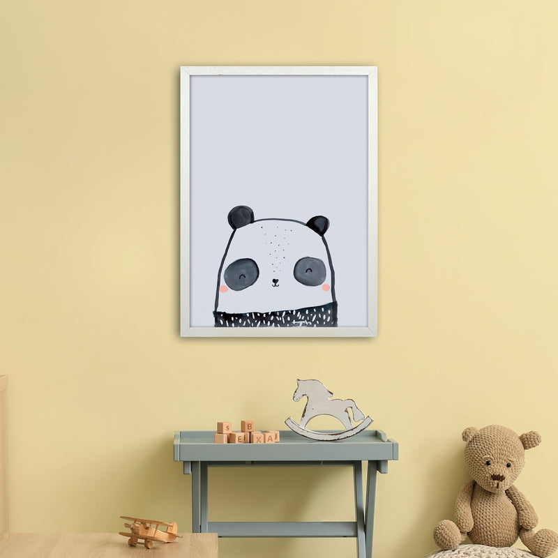 Panda by Laura Irwin A2 White Frame