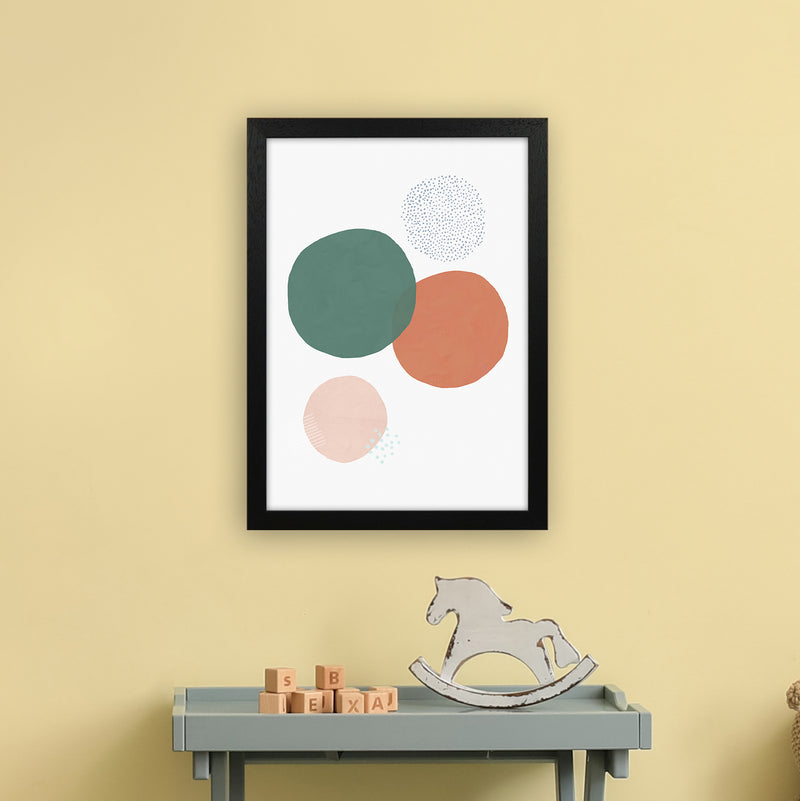Abstract Soft Circles by Laura Irwin A3 Black Frame