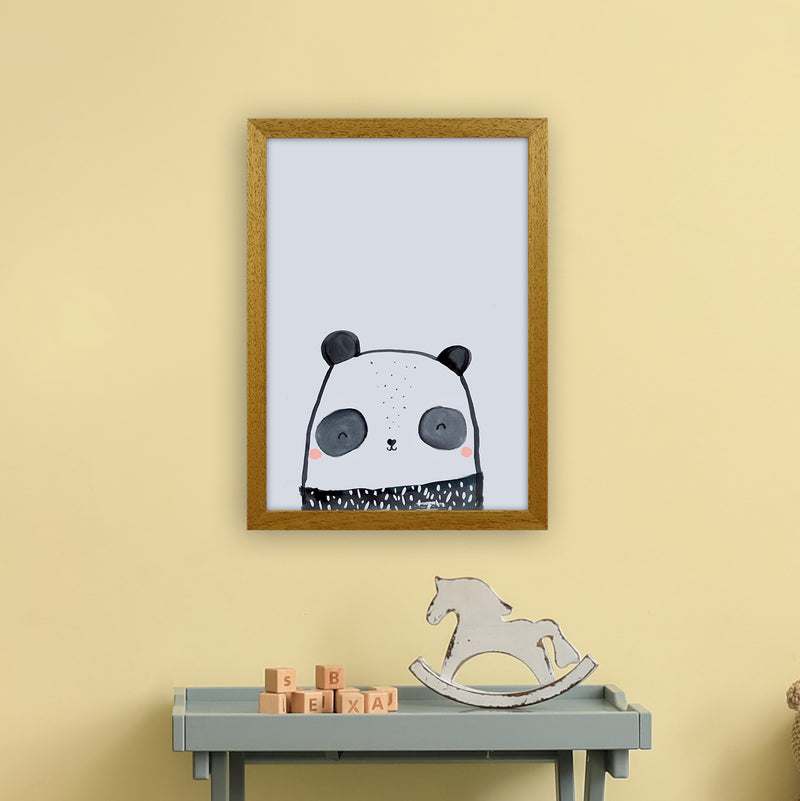 Panda by Laura Irwin A3 Oak Frame