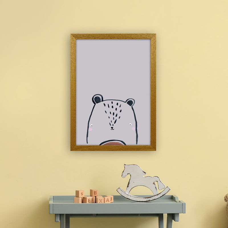 Teddy by Laura Irwin A3 Oak Frame