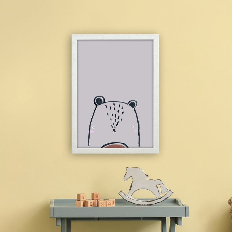 Teddy by Laura Irwin A3 White Frame