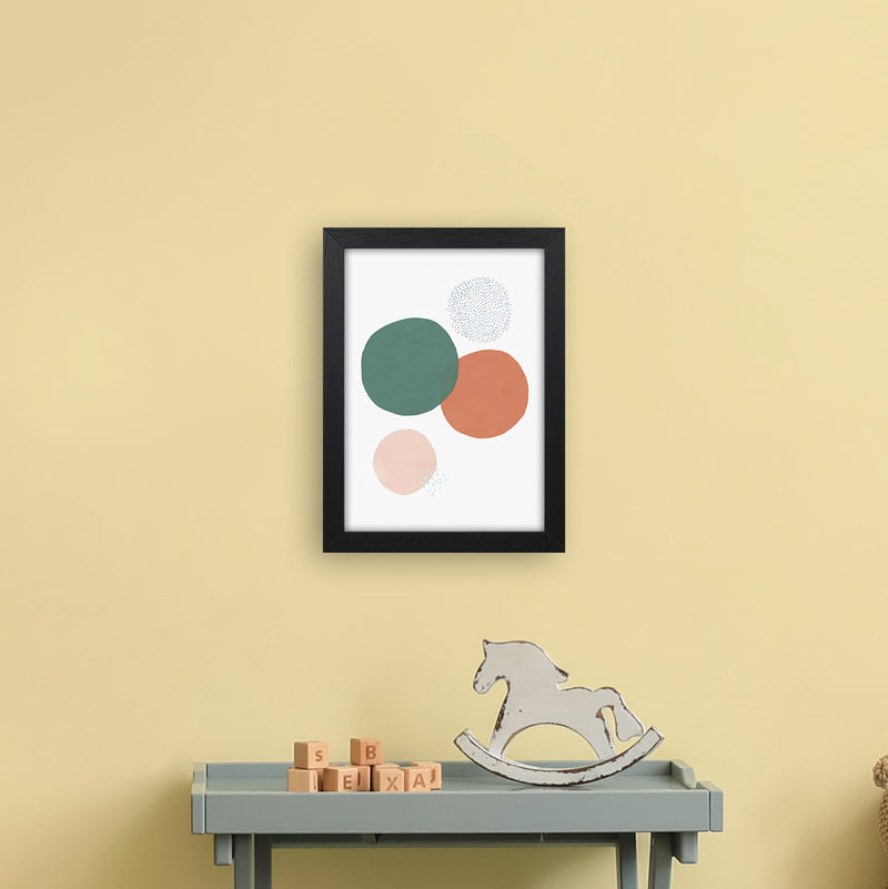 Abstract Soft Circles by Laura Irwin A4 Black Frame