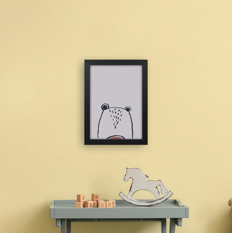 Teddy by Laura Irwin A4 Black Frame