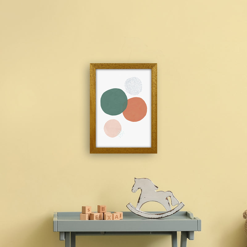 Abstract Soft Circles by Laura Irwin A4 Oak Frame