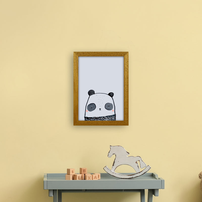 Panda by Laura Irwin A4 Oak Frame