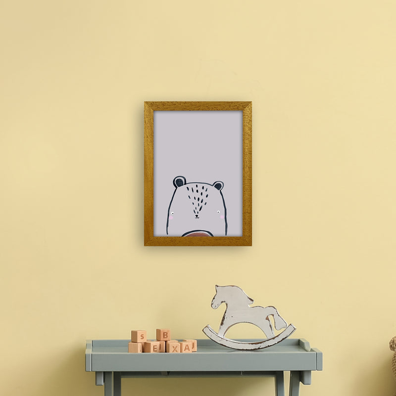 Teddy by Laura Irwin A4 Oak Frame