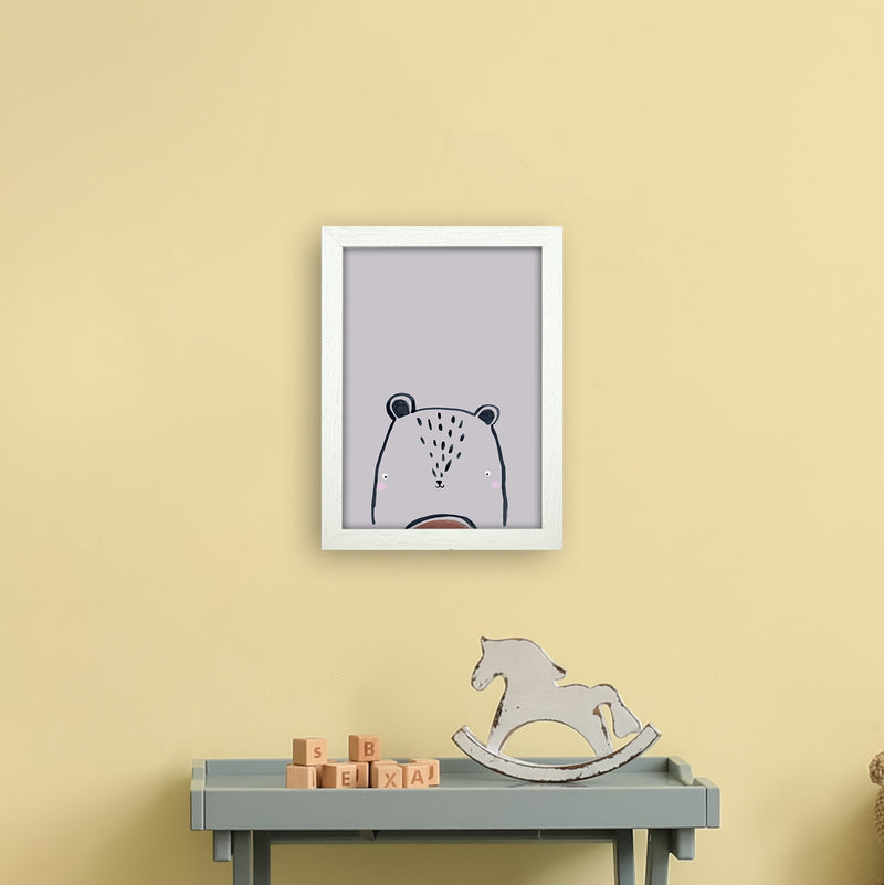 Teddy by Laura Irwin A4 White Frame