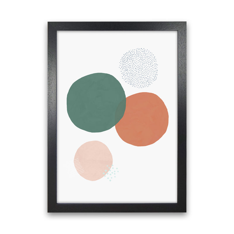 Abstract Soft Circles by Laura Irwin Black Grain