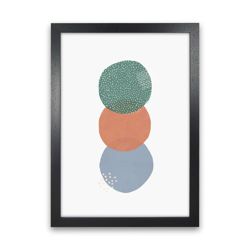 Abstract Soft Circles Part 2 by Laura Irwin Black Grain