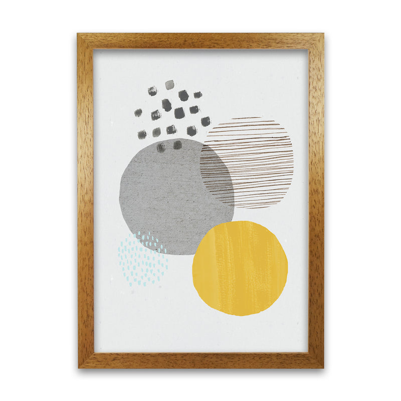 Laura Irwin Abstract Mustard and Grey A1 Print Only with White Mount